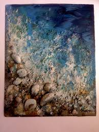 sea performance art abstract modern contemporary painting