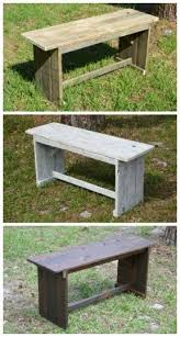 Outdoor Furniture Made From Pallets by Best 25 Pallet Benches Ideas On Pinterest Pallet Bench Pallet