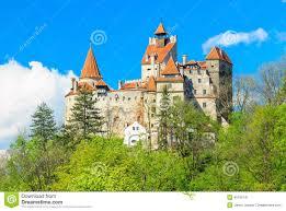 the famous dracula castle bran transylvania romania stock photo