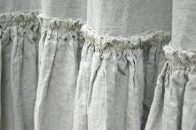 Gray Ruffle Shower Curtain Linen Shower Curtains U2013 Teawing Co
