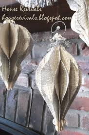 house revivals honeycomb ornaments from vintage book pages