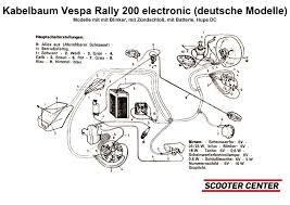 complete wiring loom bgm pro vespa rally200 electronic german