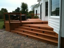 multi level deck with stair lighting by st charles il deck