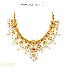 beads gold necklace images 22k gold traditional necklaces for women indian gold jewelry jpg