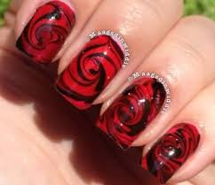 50 tremendous red and black nails art design styles u0026 ideas