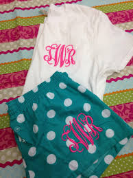 monogrammed pajama monogrammed sleep shorts with matching