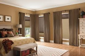 orange county black and taupe curtains bedroom traditional with