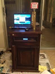 Mini Fridge Kegerator End Table Kegerator Hides The Tap When You U0027re Not Looking Hackaday