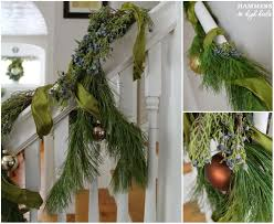 Banister Garland Ideas Hammers And High Heels Meet Me By The Mistletoe For Our Holiday