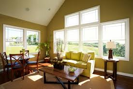 Living Room With High Ceiling by Bright Room Colors Living Room With High Ceiling And Green Paint