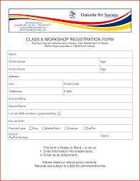 Registration Form Template Excel Doc 846735 Customer Registration Form Sle Printable