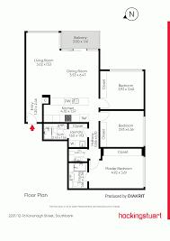 southbank floor plan 2201 12 16 kavanagh street southbank vic 3006 sold