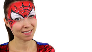 spiderman face paint tutorial youtube