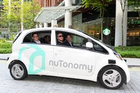 mitsubishi singapore uber rival grab partners with nutonomy to test self driving cars