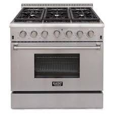 Home Depot Pro Extra by Kucht Pro Style 36 In 5 2 Cu Ft Natural Gas Range In Stainless