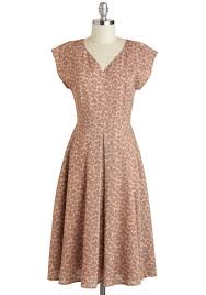 mauve to the country dress pink grey floral pleats casual a