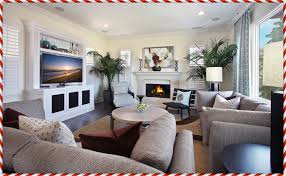 arranging living room furniture with corner fireplace and tv