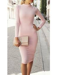 light pink bodycon dress 2017 fall bandage dress deep v neck solid color wine