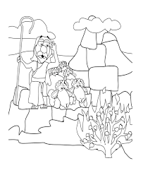 moses coloring pages receiving ten commandments coloringstar