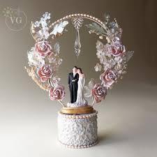 pearl cake topper swarovski wedding cake toppers wedding corners