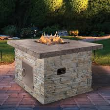 California Fire Pit by Cal Flame Natural Stone Propane Gas Fire Pit U0026 Reviews Wayfair