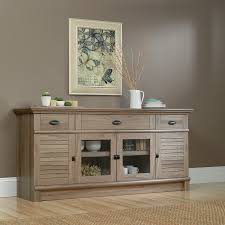 Credenza Tables Amazon Com Sauder 415373 Salt Oak Finish Harbor View Credenza