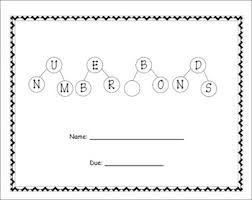 number bonds common core take home math project grades k 1 and 2