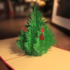 handmade 3d pop up santa trees greeting postcards