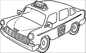 taxi and taxi driver coloring pages wecoloringpage