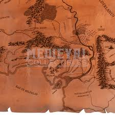 leather map leather map of middle earth dk1060 by collectibles