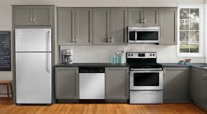 kitchen with grey cabinets and white appliances 25 kitchen cabinets to inspire