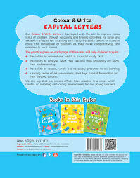 buy colour u0026 write capital letters 3 titles in a series book