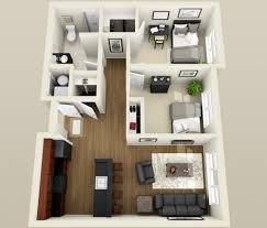 2 Bedroom Condo Floor Plan Two Bedroom Apartment Floor Plans 3d Apartments Pinterest