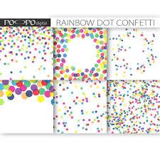 polka dots invitations rainbow digital paper dot scrapbook multicolor baby shower