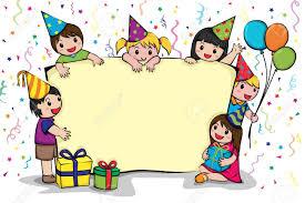 invitation card cartoon design a vector illustration of a birthday party invitation card royalty