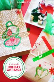 kid made holiday gift bags process art holidays and gift