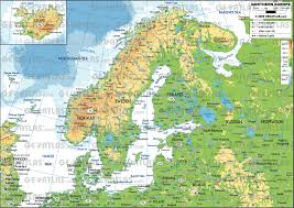 European Continent Map by Geoatlas Continental Maps Scandinavia And Northern Europe