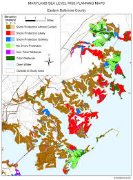 Baltimore City Map Sea Level Rise Planning Maps Likelihood Of Shore Protection In
