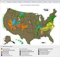 Alaska Weather Map by Severe Weather Warning Map Visual Ly