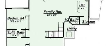 House Plans With Finished Basements 100 One Story Home Plans With Basement Single Story Country