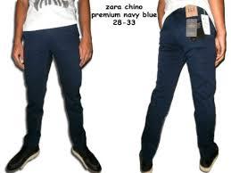 Celana Zara zara chino premium navy blue chino