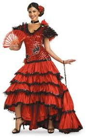 Halloween Costumes Mexican Flirty Flamenco Costume Mexican Spanish Costumes
