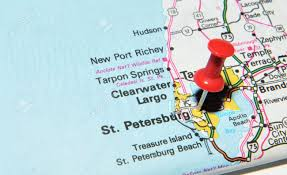 Port Richey Florida Map by London Uk 13 June 2012 St Petersburg Florida Marked With