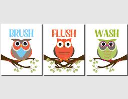 owl bathroom art kids bathroom art owl theme childrens bath wash