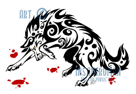 fierce wolf tribal design license available by insaneroman on