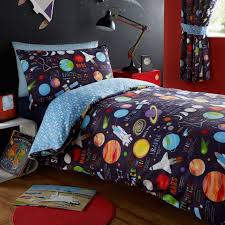 blue outer space bedding twin or full duvet cover set planets