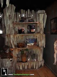 themed shelves custom cave horror themed home theater prop museum