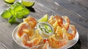 recette tempura de langoustines et sauce citron basilic cuisiner