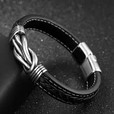 steel leather bracelet images Bracelet for men in leather and steel by sixc nomad of sweden jpg
