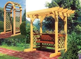 swing arbor plans project plan 90043 swing and arched arbor